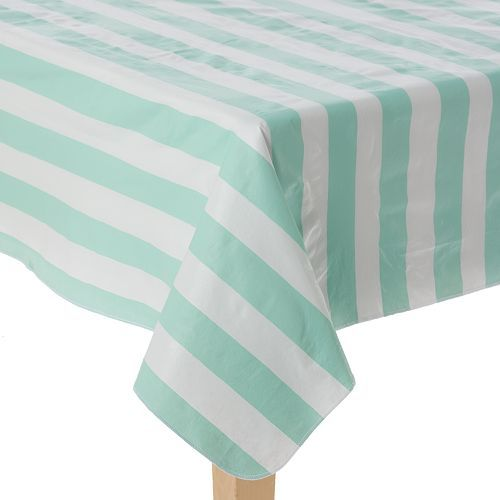 Celebrate Local Life Together Cabana Stripe Vinyl Tablecloth