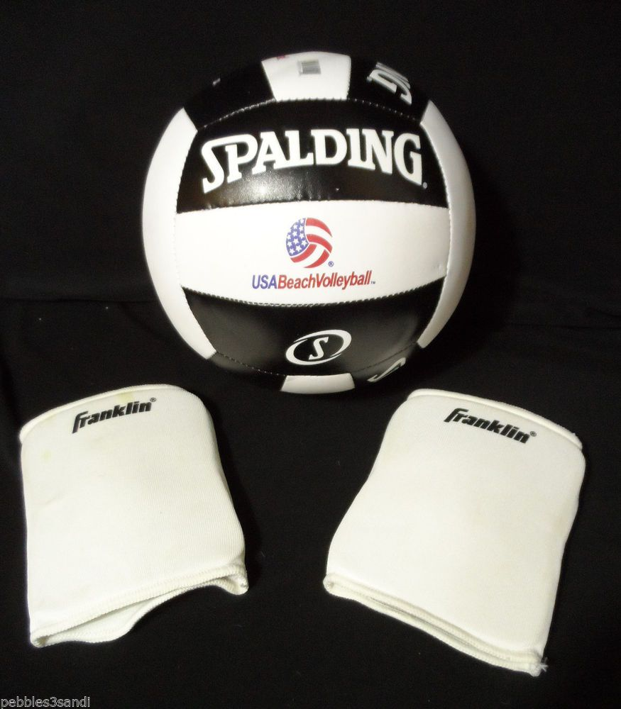 Spalding Volleyball Tour Replica With Junior Franklin Knee Pads Usa Beach Volley Spalding Volleyball Usa Beaches