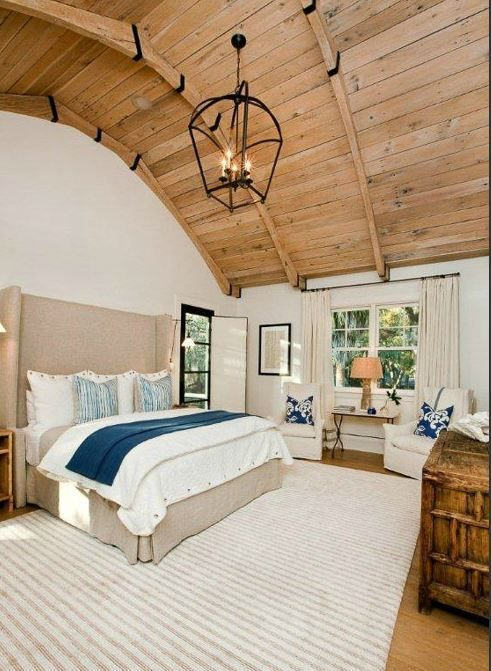 Bedroom design by Valarie Britz Interiors | featuring the Large Tapered Arch Top Lantern available at www.circalightng.com