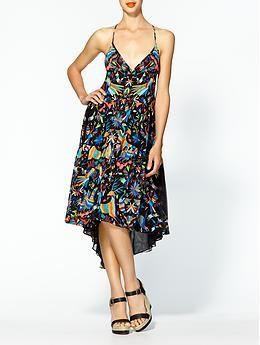 Silk Chiffon Tiered Dress by Mara Hoffman