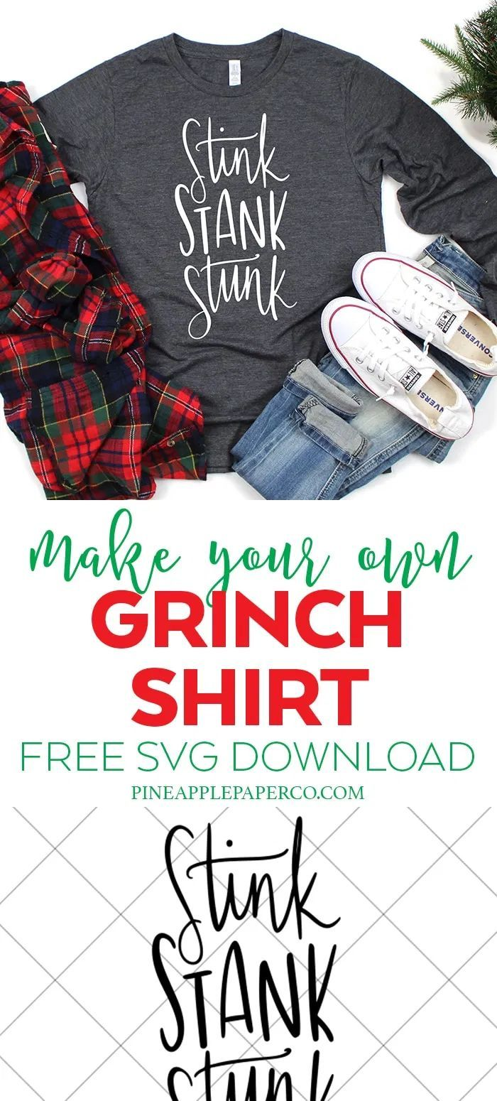 Stink Stank Stunk Free Grinch SVG (With images) Grinch