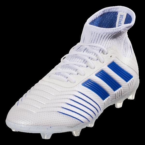 Buy adidas Predator 19.1 FG Junior Soccer Cleat - White/Blue ...
