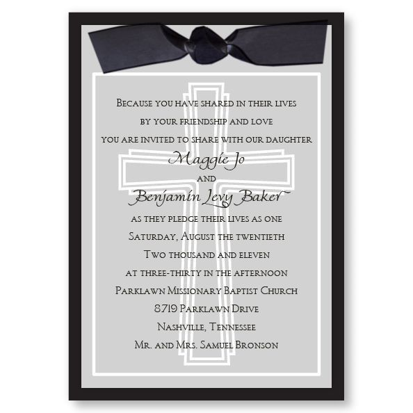 Cross of Faith Wedding Invitations by TheAmericanWedding.com