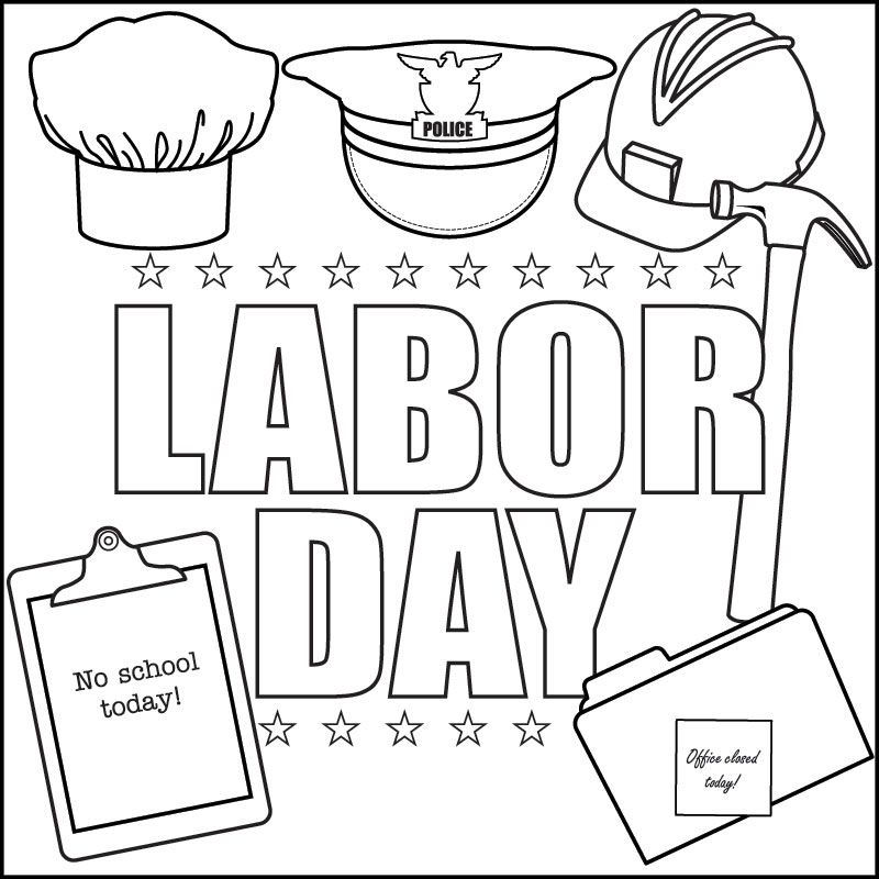 labor day song and printable coloring page - September Coloring Pages