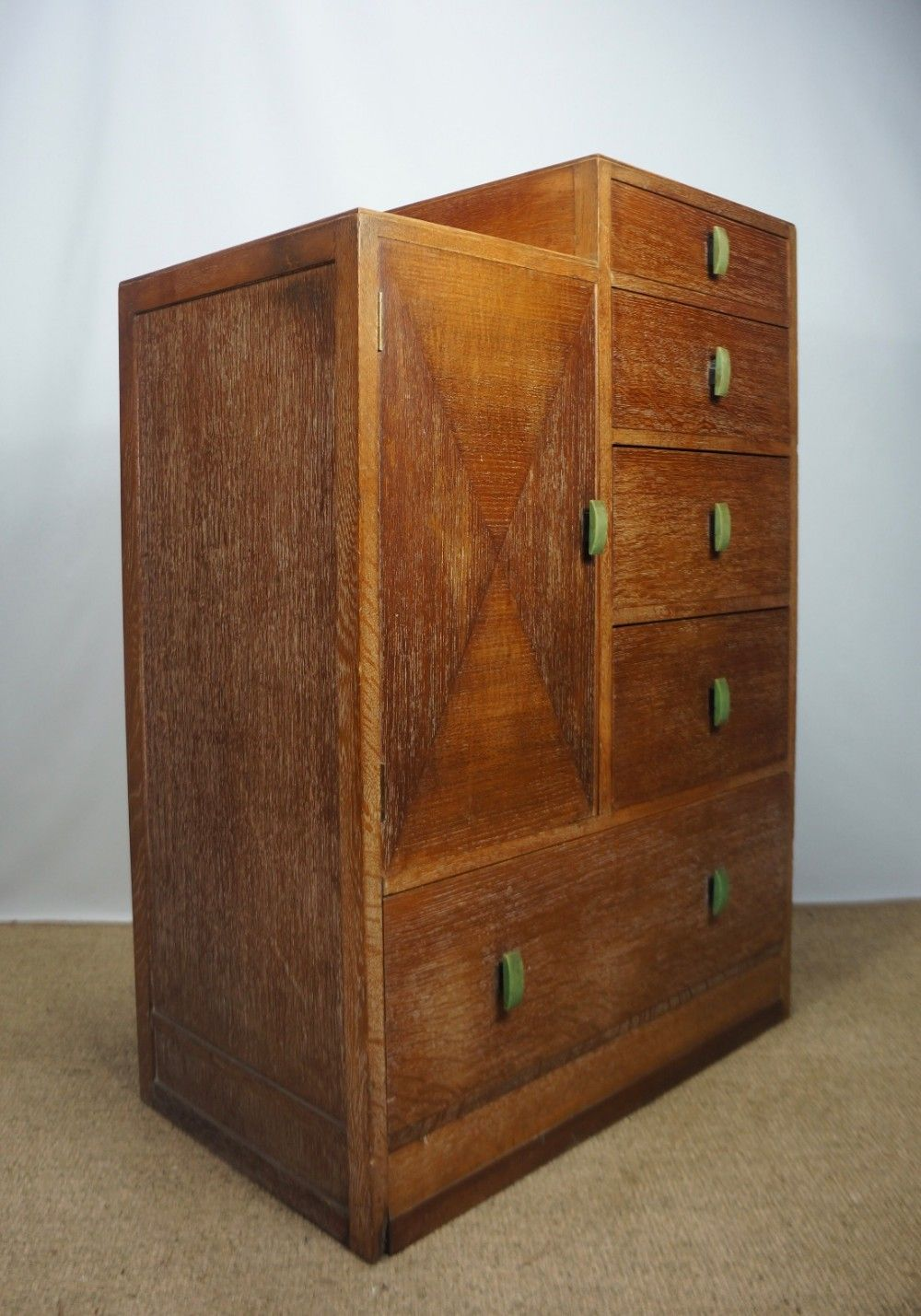 Limed Oak Tallboy Chest Of Drawers In The Manner Heals