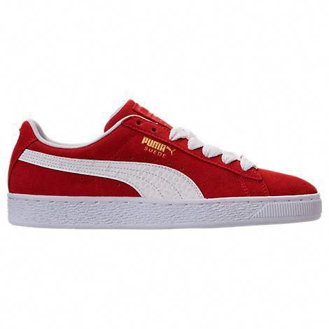 puma men's suede classic bboy fabulous casual shoes red