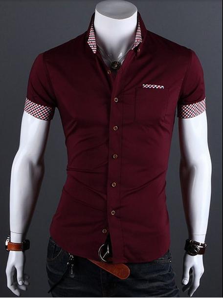 91a3daae6 Shopjmix - Moda masculina online - Camisa social slim fit - CAMISA SOCIAL MASCULINA  SLIM FIT - MANGA CURTA