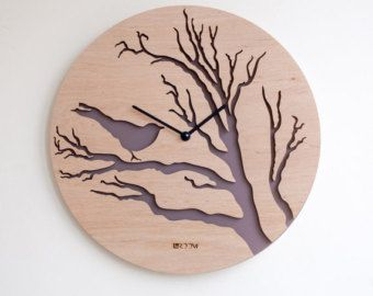 Handmade Wall Clock Tree Leaves The Inspiration For This Watch Was Found In  Tree Leaves :