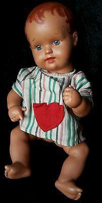 Wunderschöne alte kl. 31 cm Schildkröt Strampelchen? Baby Puppe, old german doll