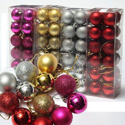Purple Decorative Balls 24Pcs Christmas Bubble Ball Xmas Tree Hanging Ornament Festival