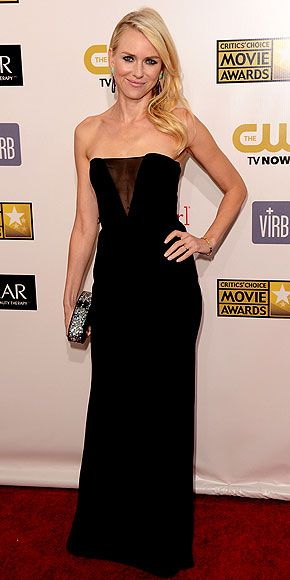 """Naomi Watts.  Critic's Choice Awards 2013.    """"Emilio Pucci gown and Irene Neuwirth earrings."""""""