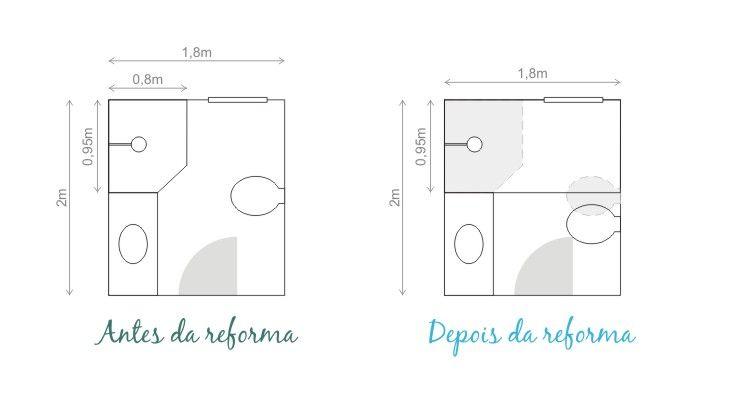 plantas de banheiros quadrados 2  Ideias Para O Banheiro  Pinterest  Plant -> Banheiro Pequeno Planta