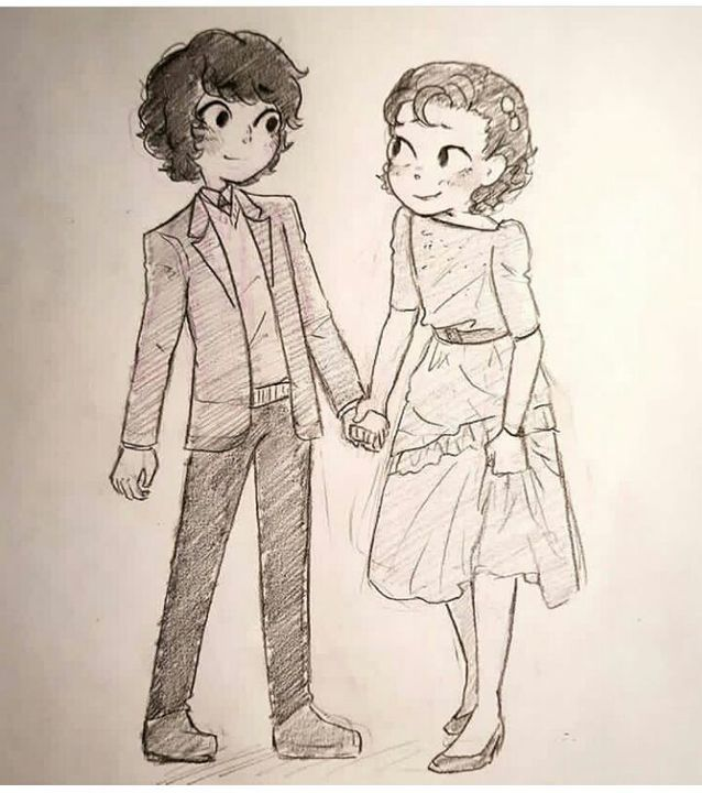 Son tan lindos❤ el dibujo es espectacular movie loveliness pinterest stranger things strange things and stranger things stuff