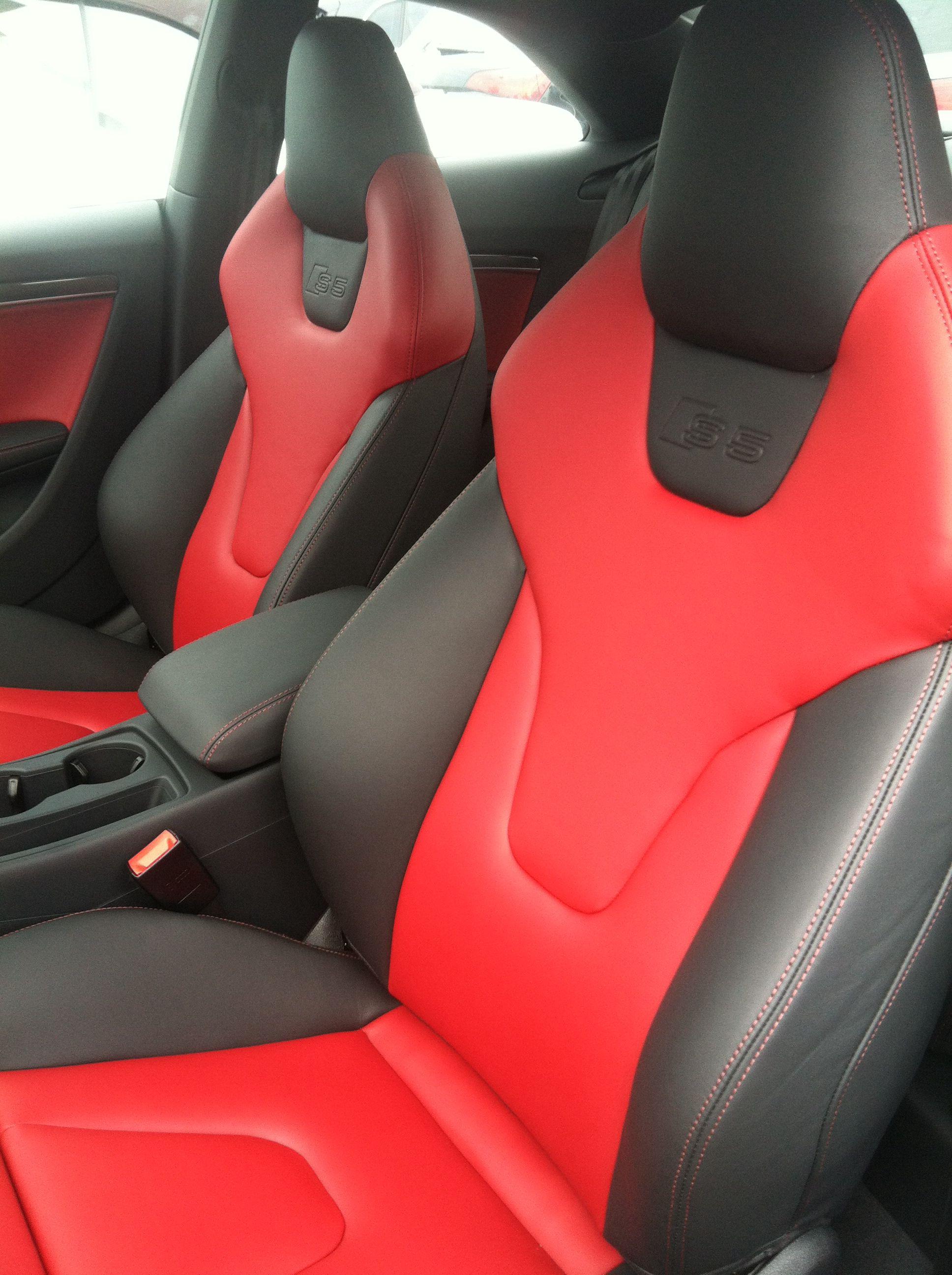 Audi S5 Interior Red Black Audi S5 Audi Audi S5 Sportback