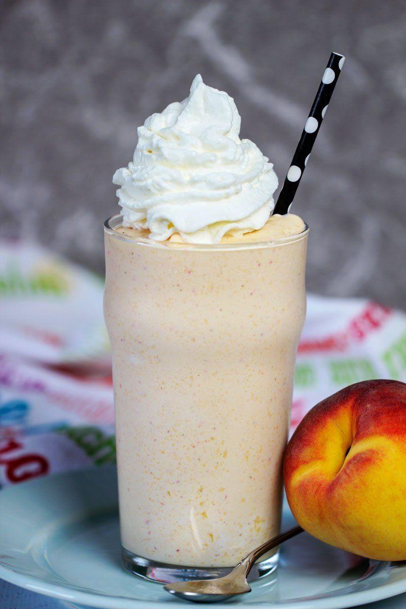 Peach Buttermilk Milkshake Chips Pepper Recipe Peach Milkshake Recipe Peach Milkshake Milkshake Flavours