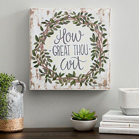How Great Thou Art Canvas Art Print Kirklands Canvas Painting Diy Small Canvas Paintings Canvas Painting Quotes