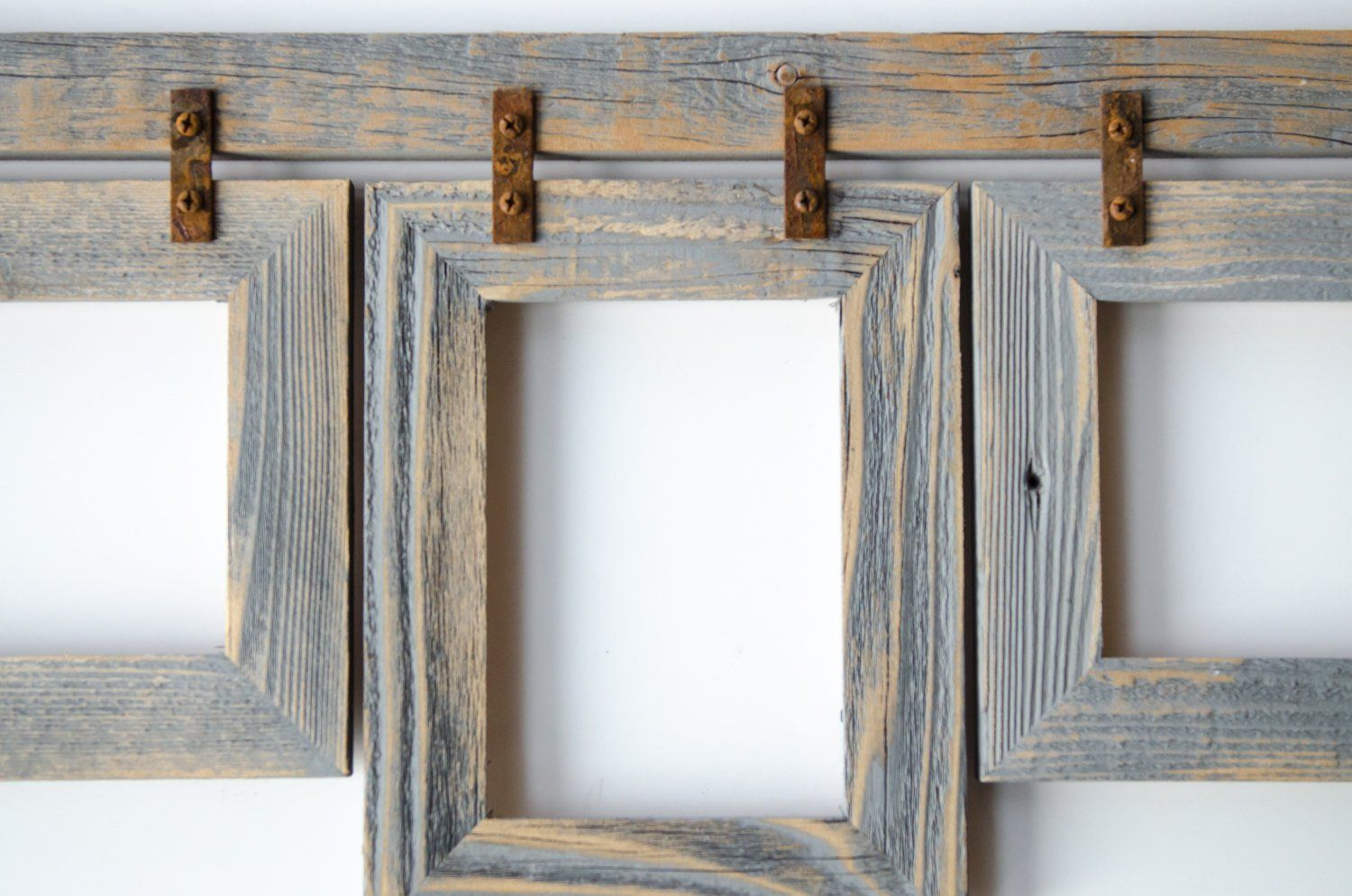 Barnwood Collage Frame 3) 5x7 Multi Opening Frame. Rustic Picture ...
