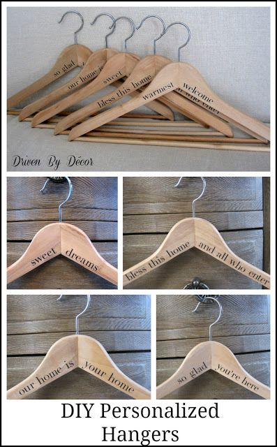 Diy Personalized Wood Hangers The Perfect Gift With Images