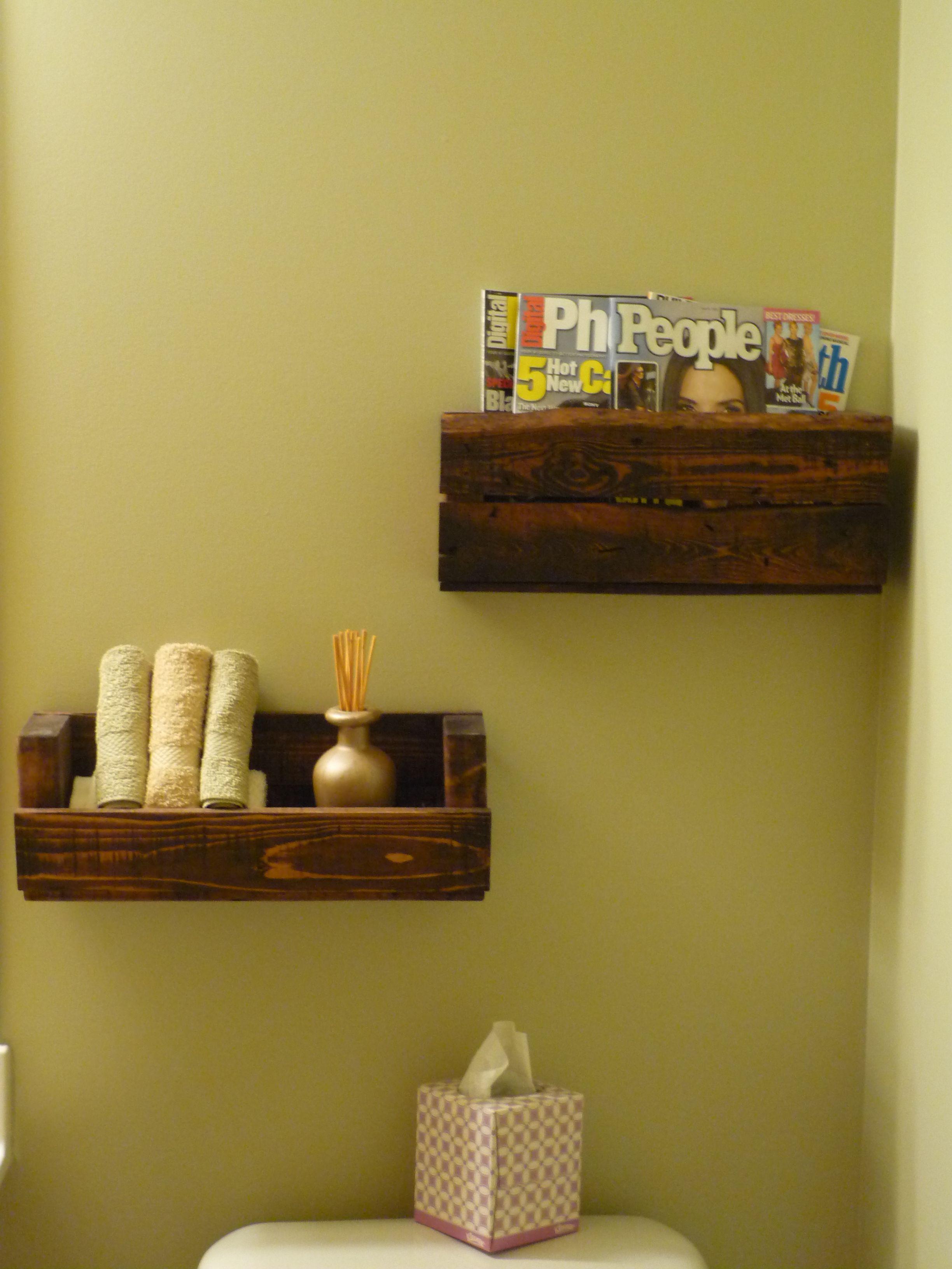 Repurposed Pallet into Wall Shelves #FoxValleyHabitat #Naperville ...