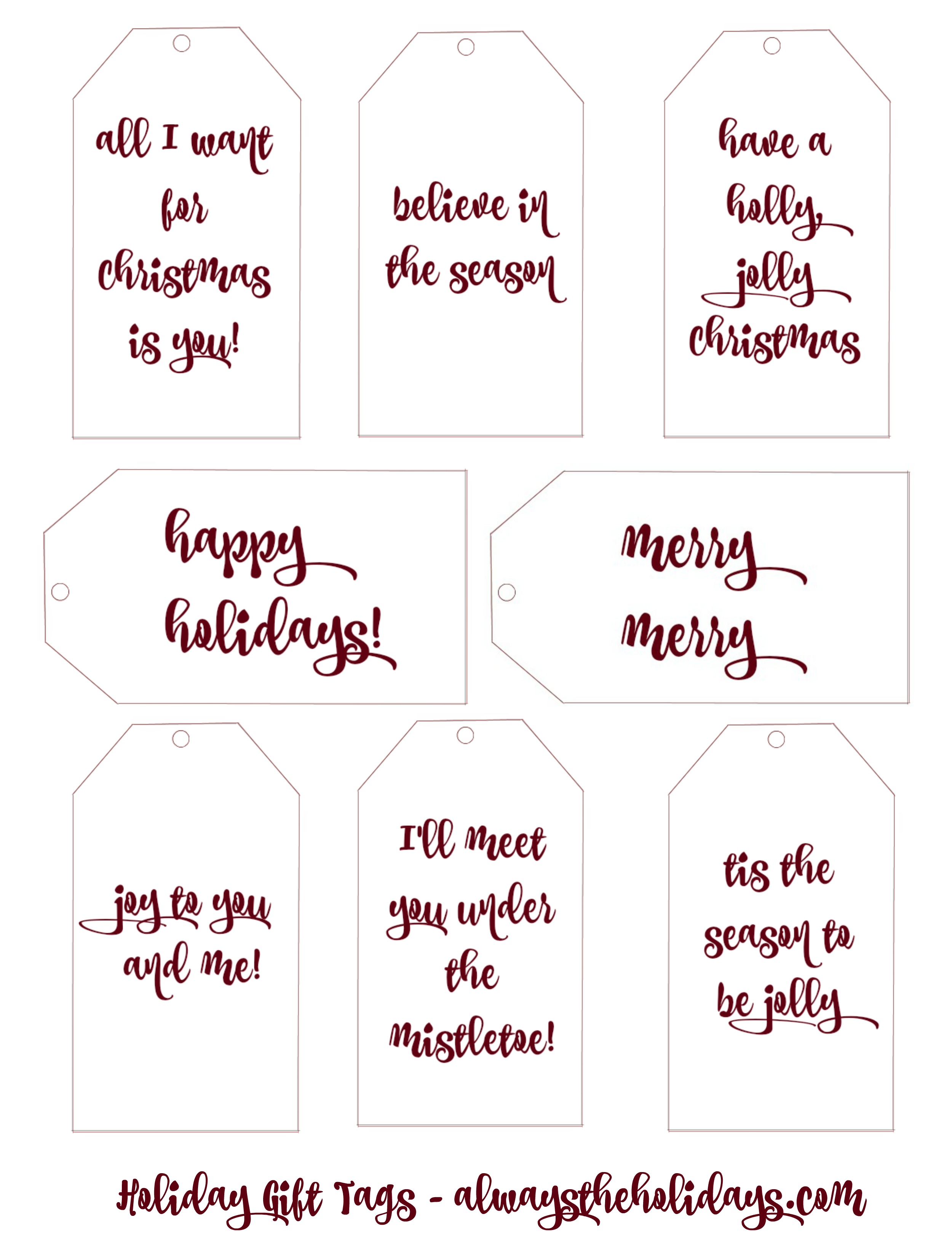 picture about Printable Christmas Gift Labels named These types of printable Xmas present tags are very simple with a impressive