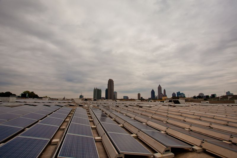 Ikea S Massive Solar Roof Atlanta Ga Solar Solar Roof Solar