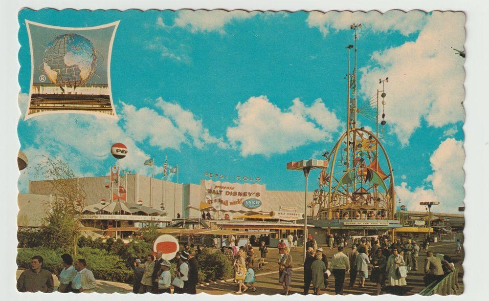 Unused Postcard New York Worlds Fair 1964 Pepsi Cola