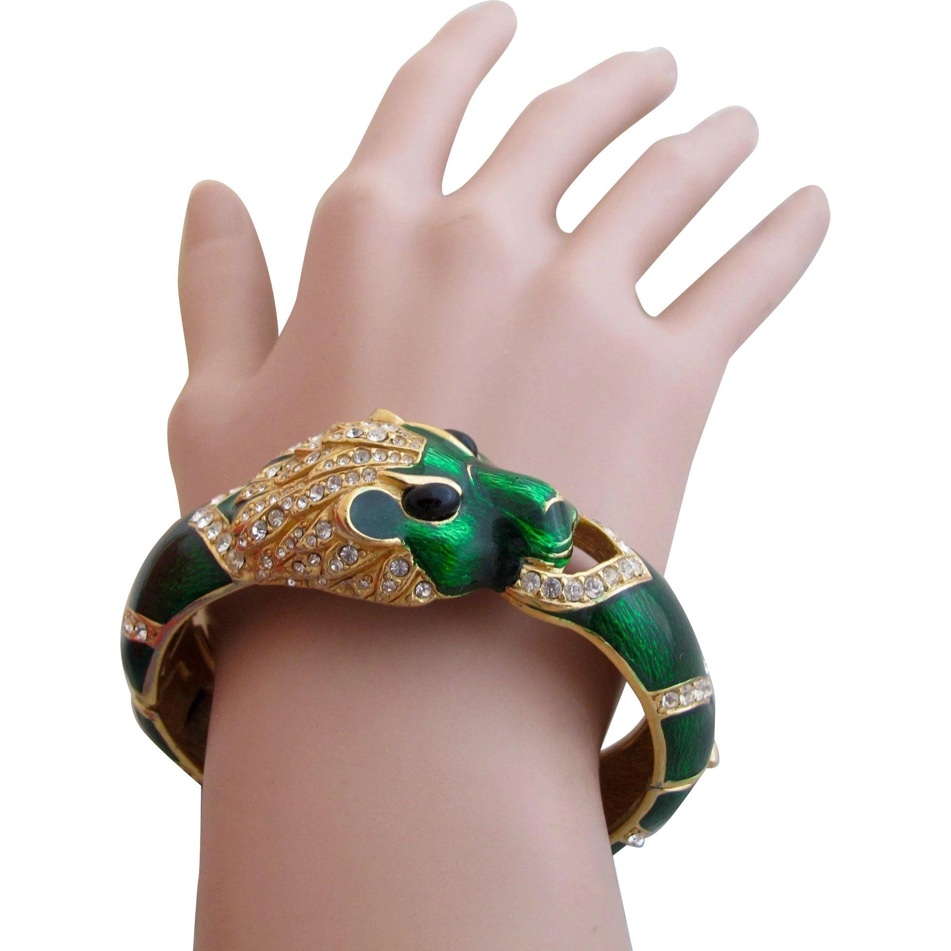 st il bracelet bangle and hinged gold retired tiger black clamper p fullxfull designer john
