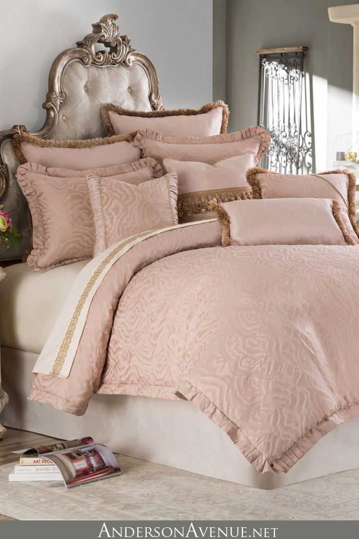 The Fontaine Bedding Set In A Gorgeous Rose Quarts Color Palette Luxury Bedding Bedding Sets Luxury Bedding Sets