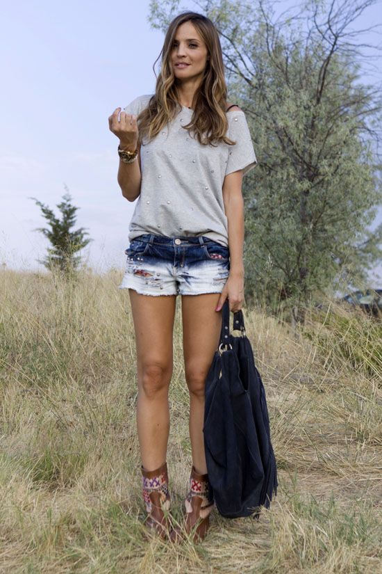 shorts & ankle boots – lady addict | Lady Addict en stylelovely.com
