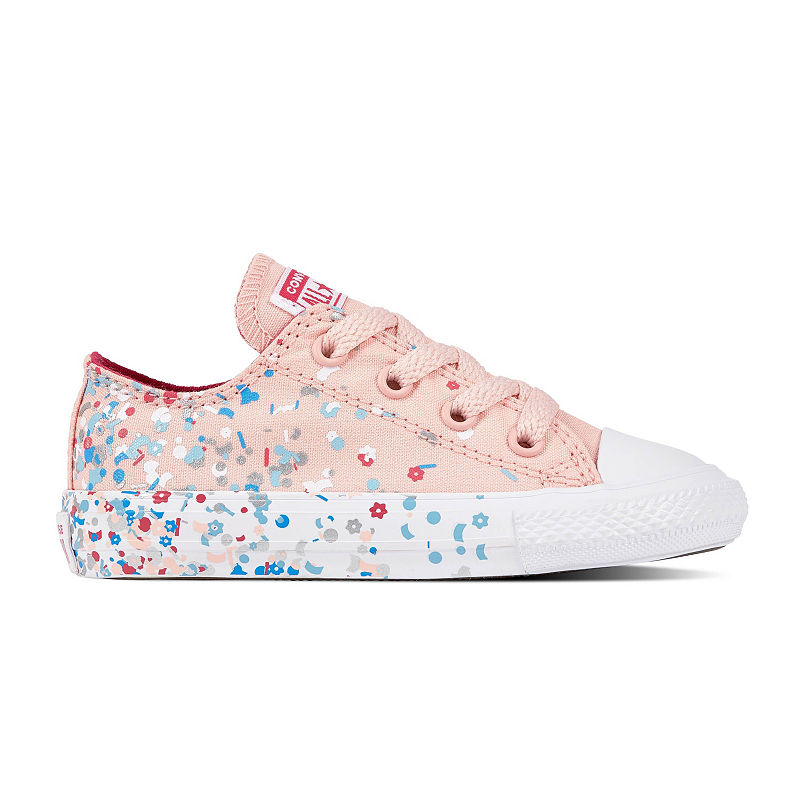 8126fc566bee Converse Chuck Taylor All Star Confetti Ox Girls Sneakers Lace-up - Toddler