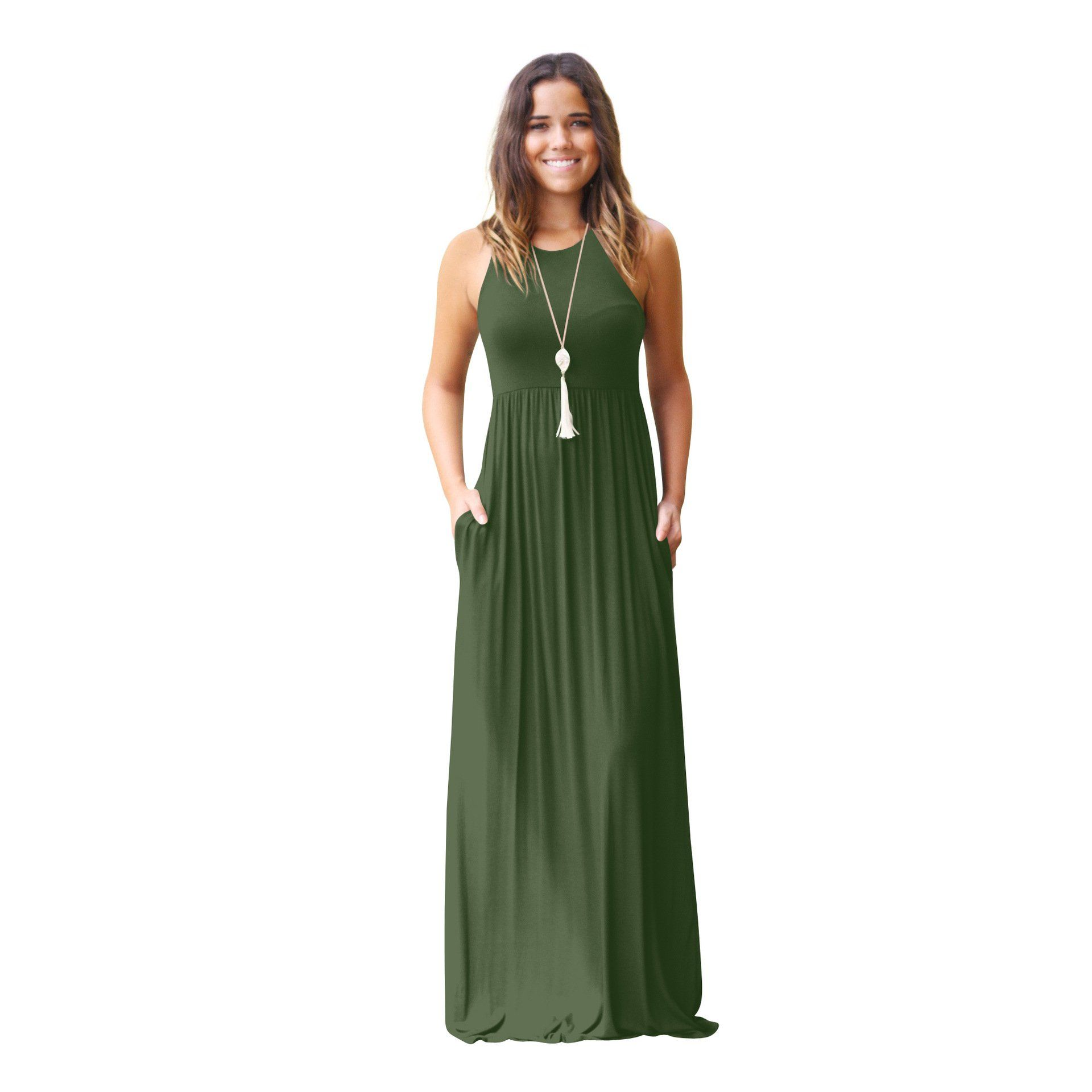 Side New Fashion Women S Casual Plain Sleeveless Vest Dress Strap Pocket Dress Walmart Com In 2021 Short Sleeve Maxi Dresses Long Dress Casual Maxi Dress With Sleeves [ 1920 x 1920 Pixel ]