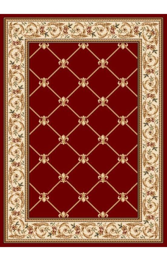 Well Woven Timeless Fleur De Lis Red Rug For The Home