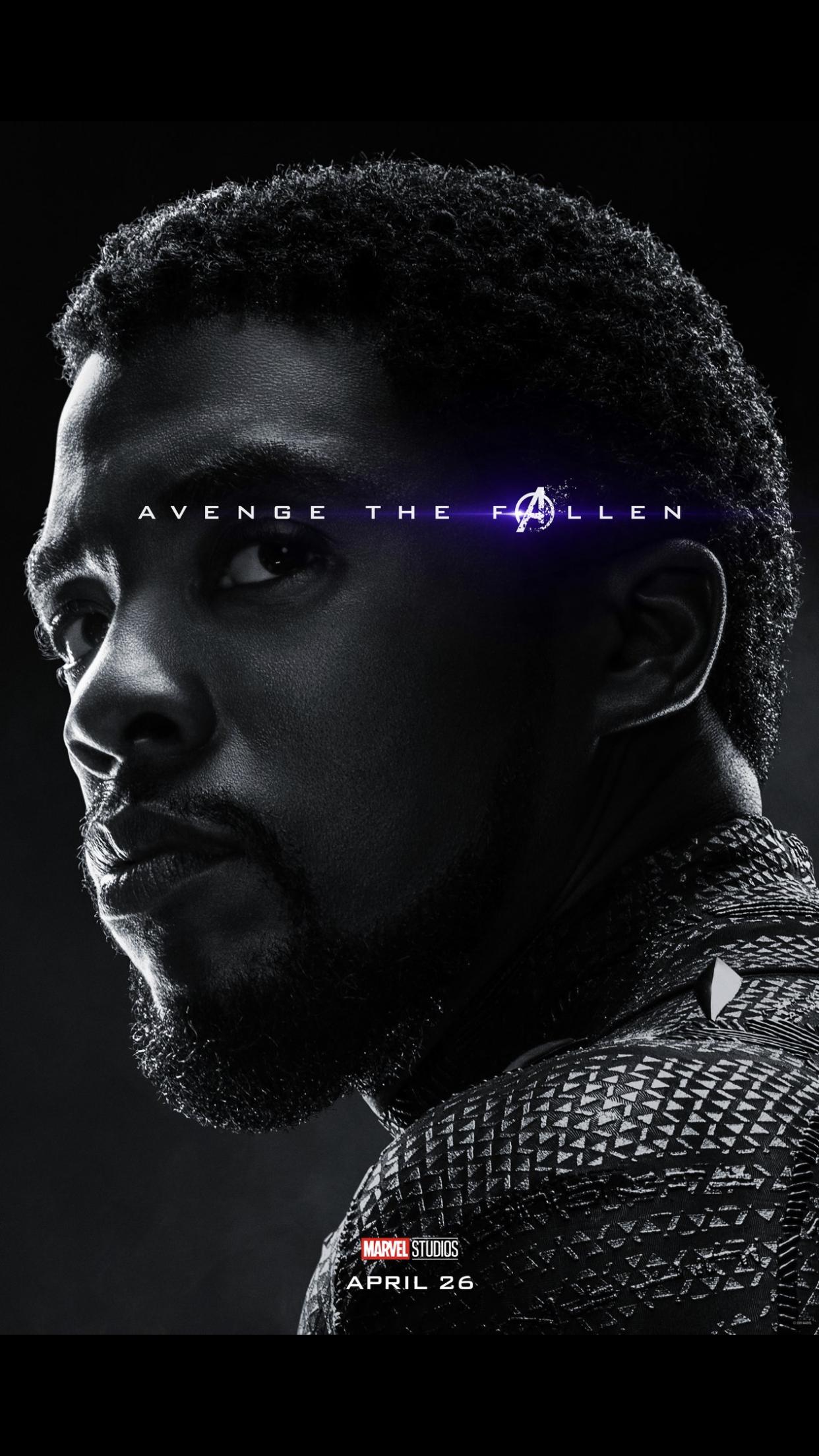 T Challa Avenge The Fallen Endgame Marvel Entertainment Avengers Movies Marvel Avengers