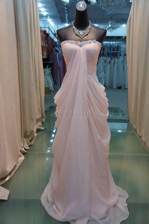light pink unique wedding dress or prom dress   Clothes   Pinterest ...
