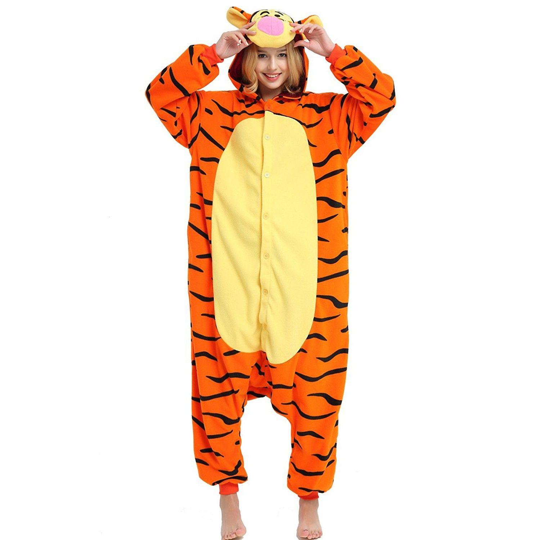 Winnie the Pooh Tigger Onesie for Adult Disney Kigurumi Pajamas Party  Halloween Costumes da71a9c0b