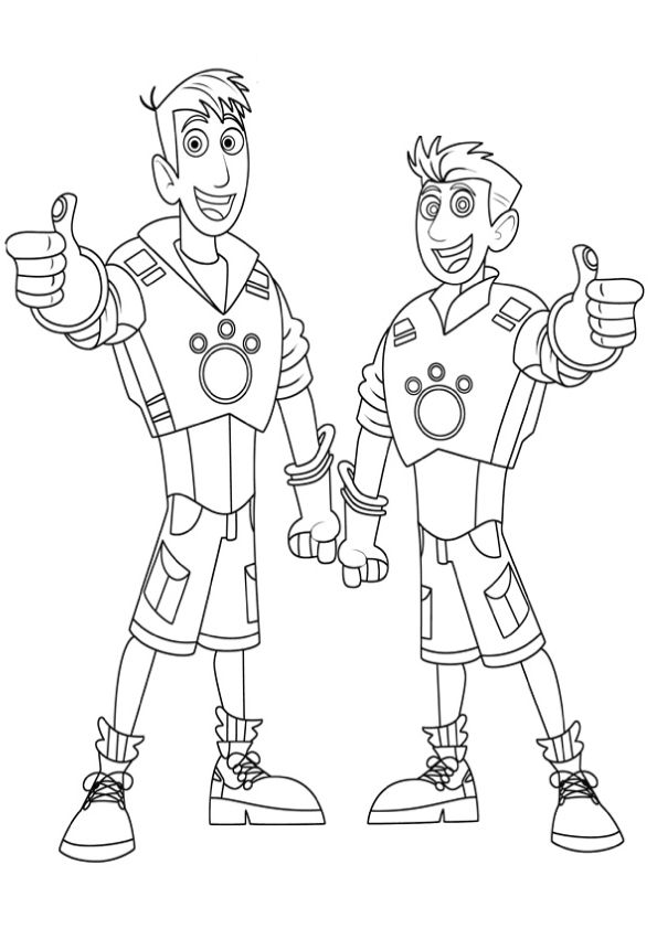 wild kratts coloring pages discs - photo#32