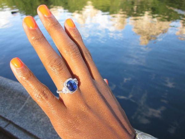 Custom Sapphire and diamond ring. OMG perfection