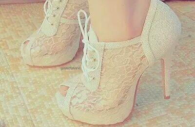 White amazing heels