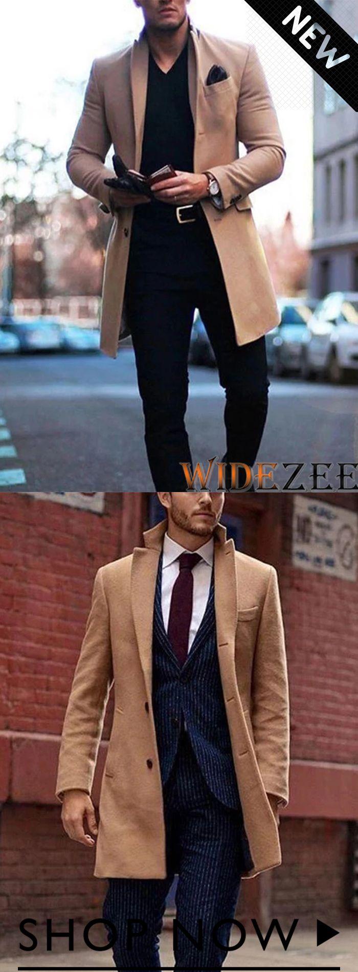 Cappotto con bottoni in tinta unita colletto bavero moda autunno inverno uomo