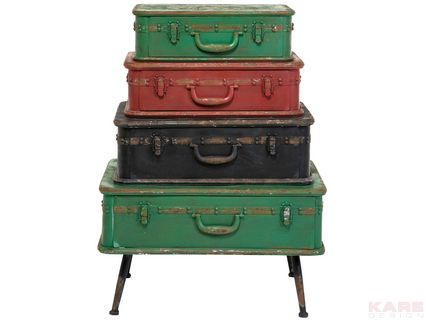 Dresser Suitcase Iron 4 Drawer