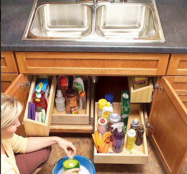 Reinigungsmittel Ubersichtlich Aufgeraumt Hausorganisations Tipps Schrank Bauen Praktisch
