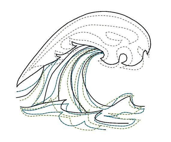 Wave machine embroidery pattern design download 5 sizes modern wave machine embroidery pattern design download 5 sizes modern redwork ocean colorwork pattern design machine embroidery and embroidery dt1010fo