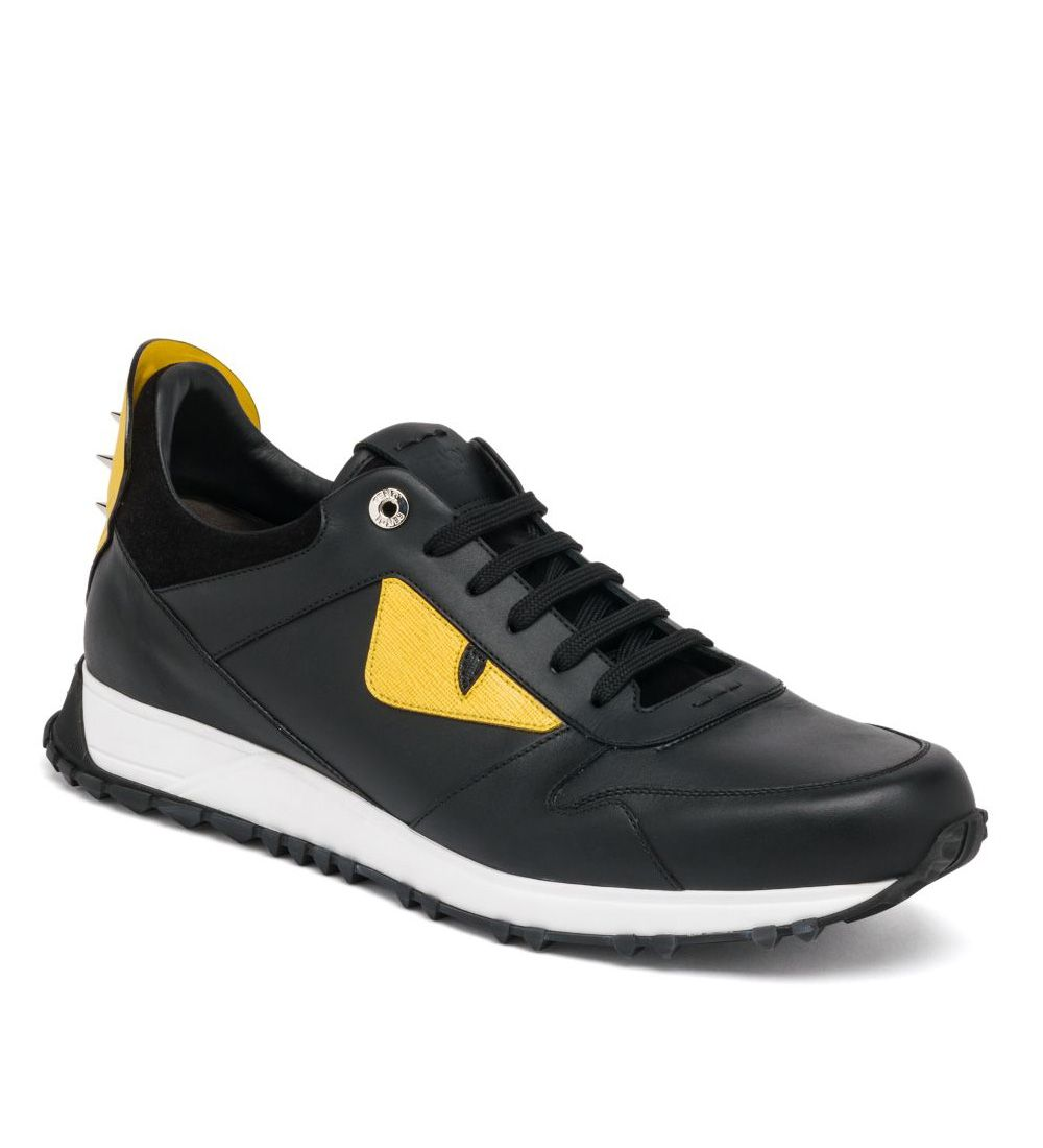 Fendi Bugs Leather Athletic Sneakers Black : Buy replica watches, designer  replica handbags, cheap wallets, shoes for sale