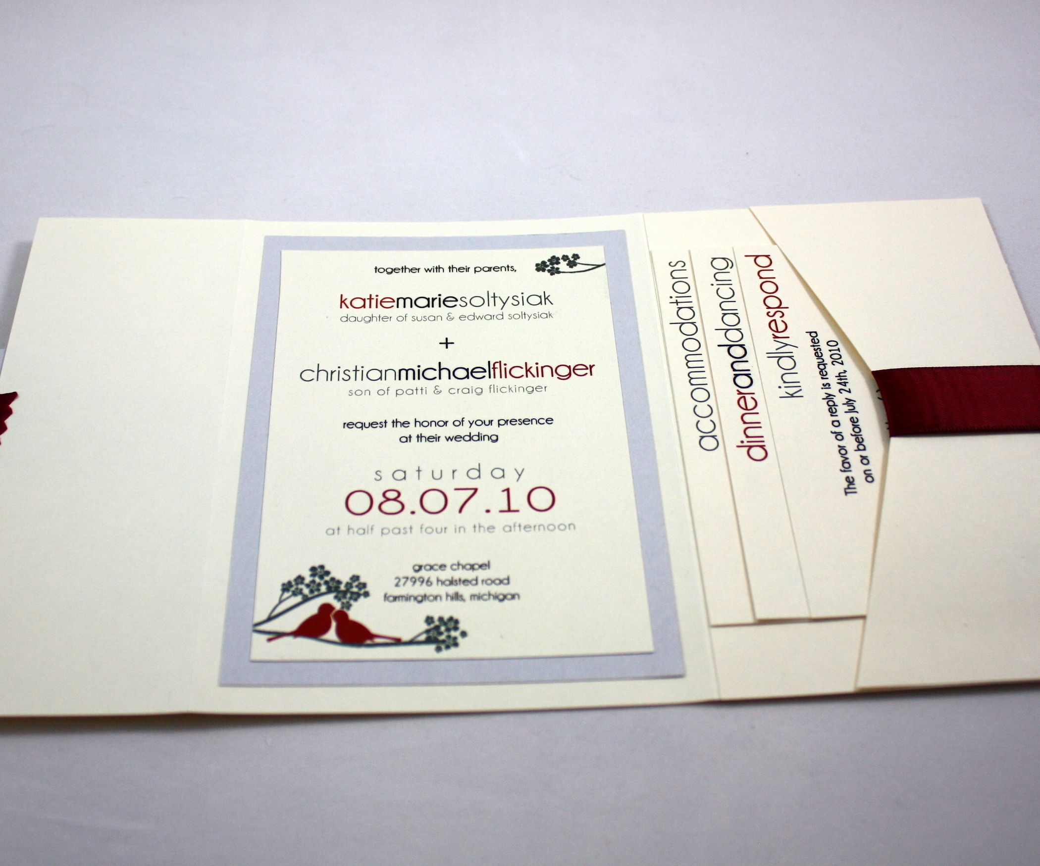 Pocketfold Wedding Invitation | Pocketfold wedding invitations ...