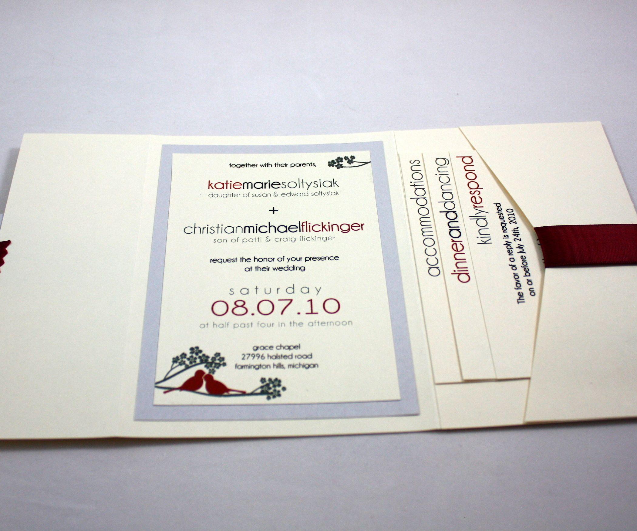 Pocketfold Wedding Invitation | Pocketfold wedding invitations ...