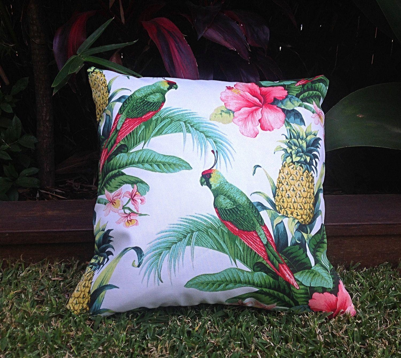 Outdoor Cushions, Tropical Outdoor Cushions, Outdoor Pillow Covers,  Tropical Pillows Alfresco Cushions Tropical