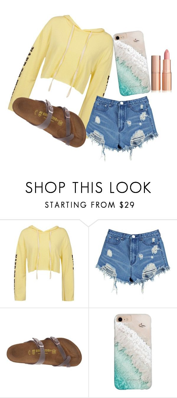"""Tuesday!"" by mckennarockow ❤ liked on Polyvore featuring Sans Souci, Boohoo, Birkenstock and Gray Malin"