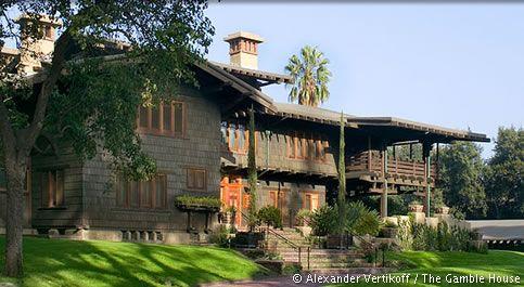 Gamble house by greene greene in pasadena masterpiece for Pasadena craftsman homes