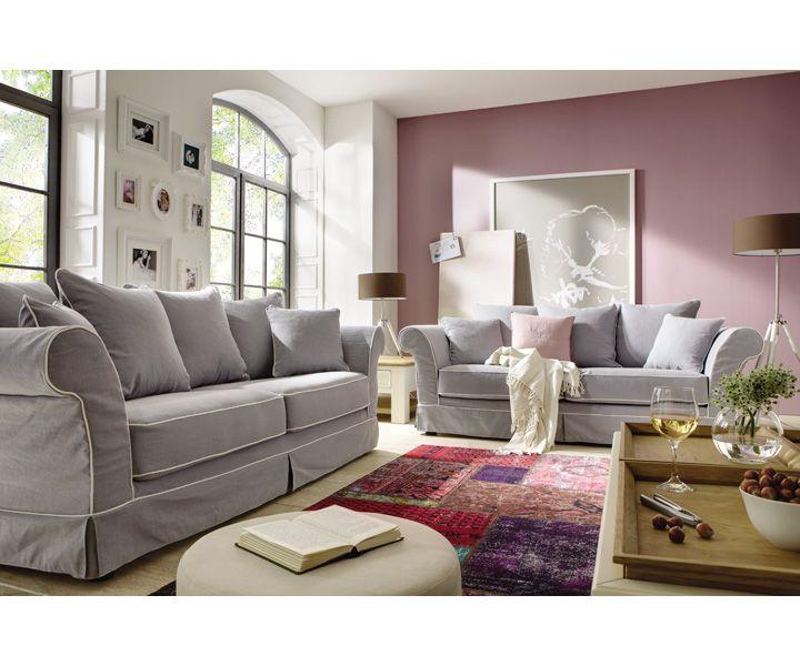 Sofa Mit Hussen Als 2 2 5 Und 3 Sitzer In Mehreren Edlen Farben Versandkostenfrei Online Bestellen Sofa Landhausstil Sofa Und Couch Landhausstil
