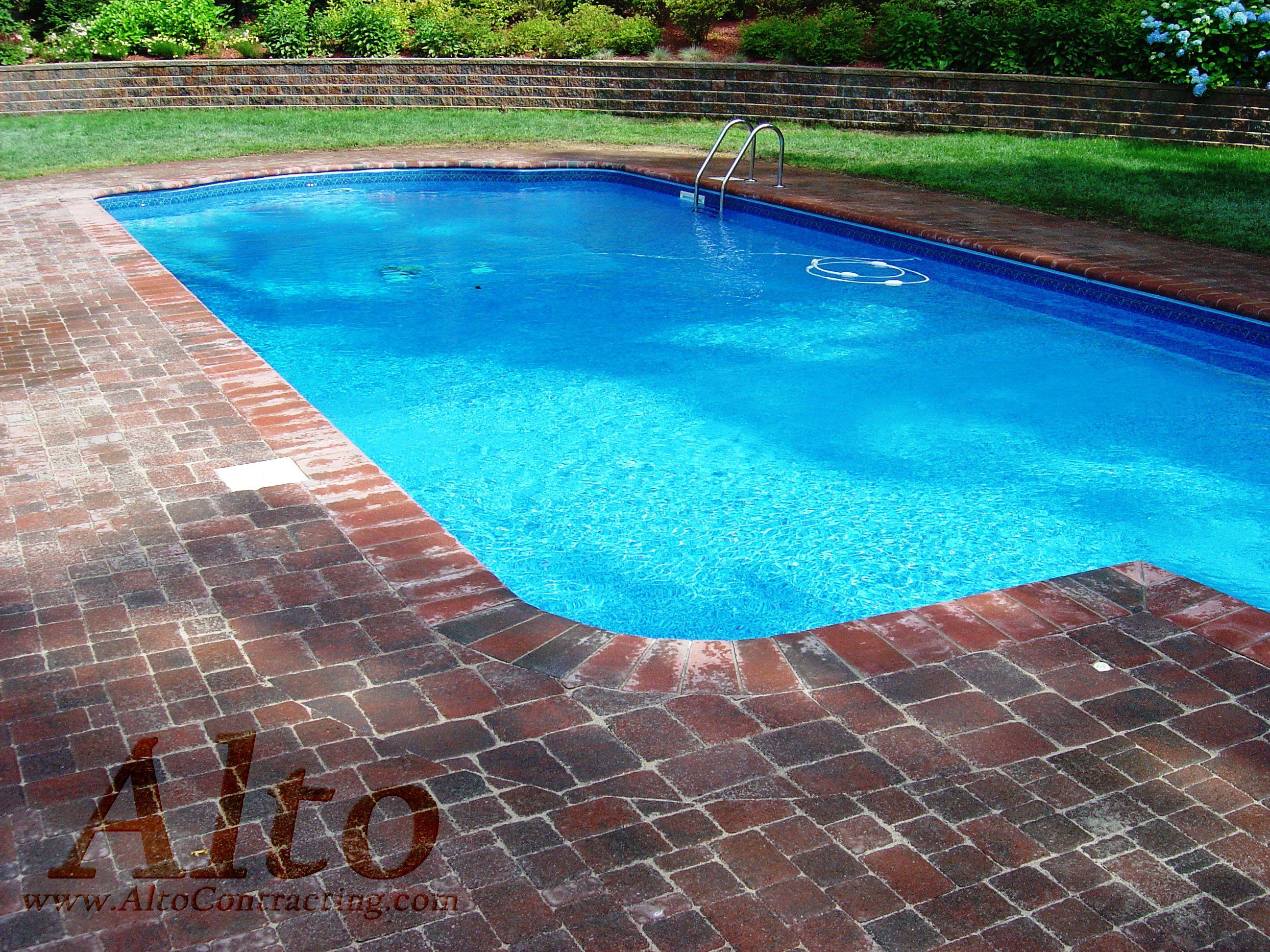 White Based Cement Cobblestone Concrete Paver Pool Deck | Pool Decks |  Pinterest | Concrete pavers, Cement and Concrete